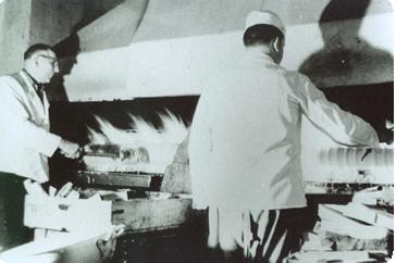 Bis zum Jahr 1956 wurde bei uns mit Holzfeuer gebacken